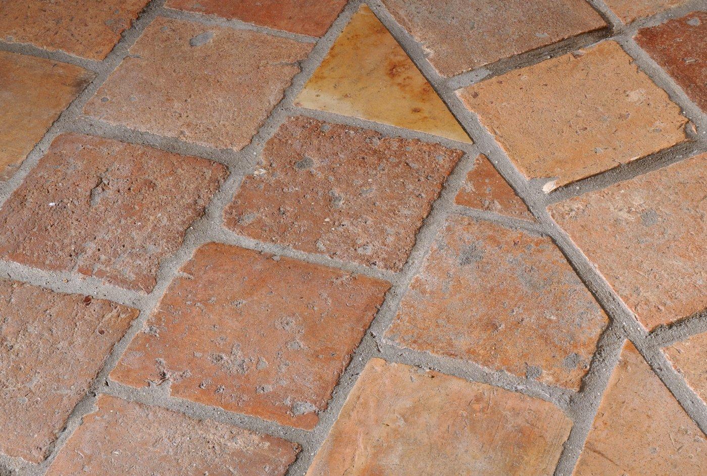 Oude Terracotta Plavuizen De Opkamer